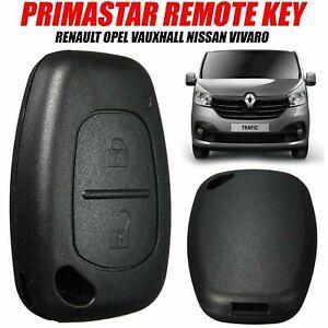 Traffic-Primastar-Remote-Fob-Case-Key-For-Renault-Opel-Vauxhall-Nissan-Vivaro