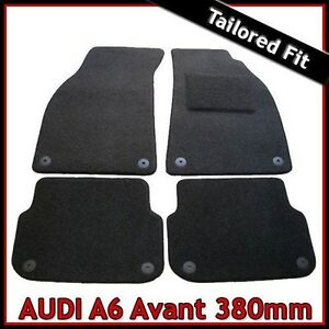 Audi-A6-Avant-Estate-C6-2005-2011-380-mm-Tapis-Tapis-De-Voiture-Noir