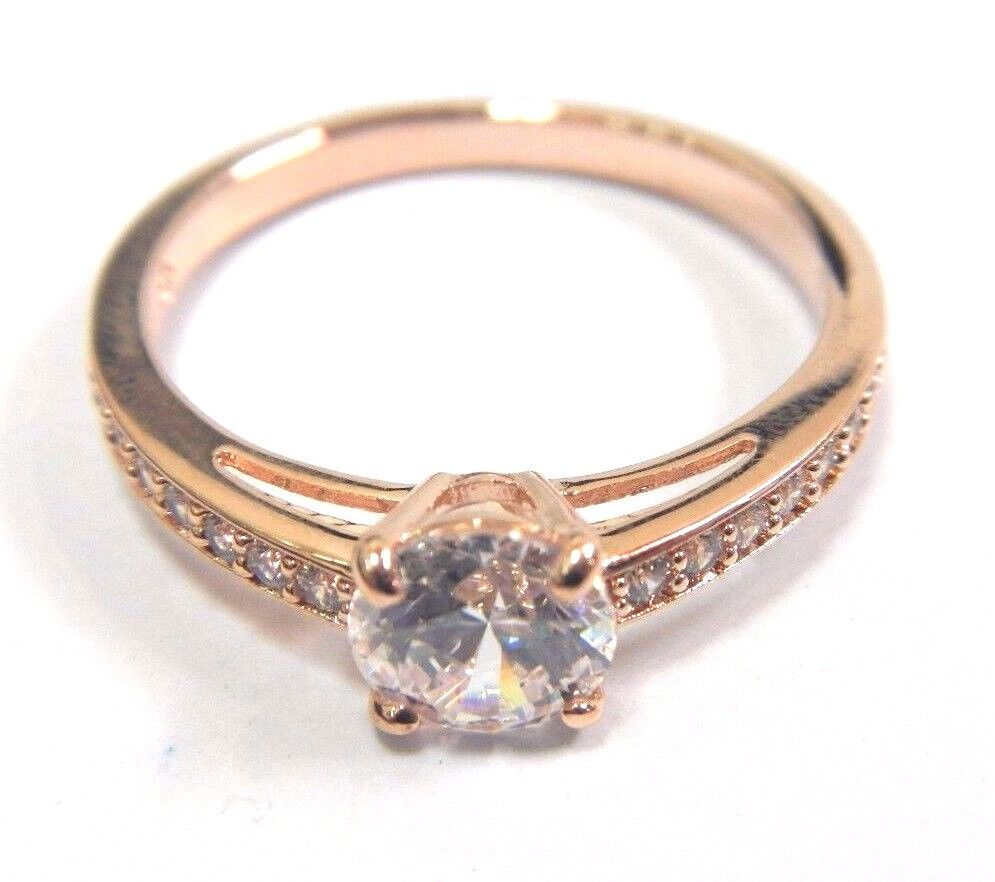 ATTRACT CRYSTAL pink gold RING SIZE 8 SWAROVSKI JEWELRY 5184208