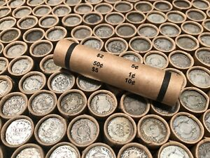 OLD-U-S-COIN-ROLLS-BARBER-DIME-LOT-ESTATE-SALE-LIQUIDATION-SET-SILVER-BULLION