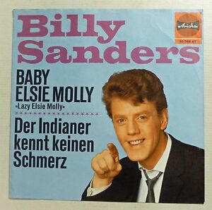 COVER-ONLY-BILLY-SANDERS-034-Baby-Elsie-Molly-034-D-60er-ARIOLA-ps-VG