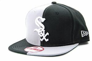 bf78182a459 Chicago White Sox New Era 9FIFTY Split em MLB Baseball Two Tone ...