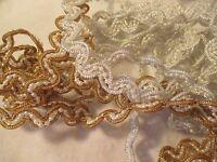 Vintage Estate Find - Faux Pearls In Gold &/or Silver Braids Trim Wedding