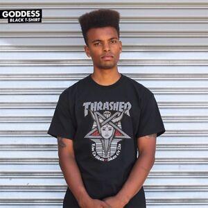 Thrasher-Magazine-GODDESS-LOGO-Skateboard-Shirt-BLACK-MEDIUM