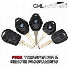 BMW BLANK KEY REMOTE FOB E46 E39 E83 E53 E85 Z3 VIRGIN TRANSPONDER CODED FREE