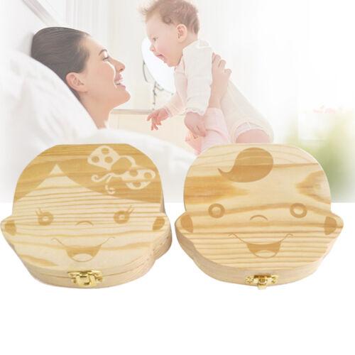 Kids Boy/&Girl Tooth Box organizer for baby Save Milk teeth Wood Storage Box