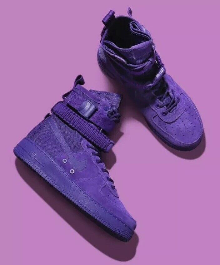 New Authentic Nike SF Air Force 1 Court Purple 864024 500 Mens SZ 9.5 No BOX LID