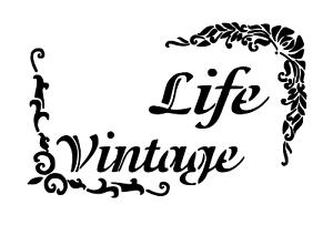 """Schablone /"""" Life Vintage/"""" auf A4"""