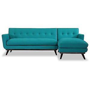 Kardiel Jackie Mid Century Modern Sectional Sofa Right Ebay