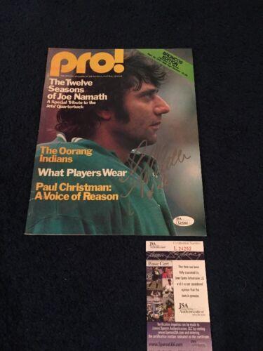 1976 FOOTBALL PROGRAM DENVER VS CLEVELAND SIGNED BY FLOYD LITTLE JSA NAMATH