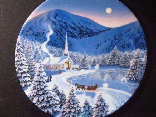 The Spirit of Christmas  1990  SILENT NIGHT Church /& Horse Snow Ltd Ed Plate