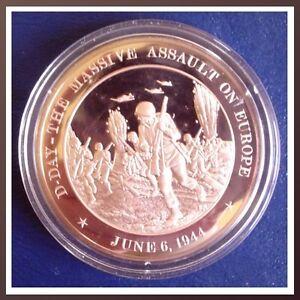1944-D-Day-Massive-Assault-On-Europe-Solid-Bronze-Medal