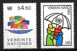 """UN Vienna - 1985 Definitives Mi. 49-50 MNH - Enschede, Nederland - UN Vienna - 1985 Definitives Mi. 49-50 MNH Click the button below to view more UN lots from our extensive offerings. After clicking select """"UN"""" in the blue side-bar on the left. Our lots start at just €0,25 Combine up to 10 lots fo - Enschede, Nederland"""