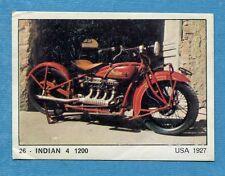 MOTO 2000 - Panini 1972 -Figurina-Sticker n. 26 - INDIAN 4 1200 -Rec
