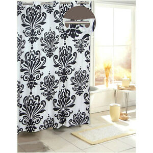 Image Is Loading Beacon Hill Damask Print Hookless Vinyl Shower Curtain
