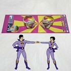 Set Wonder Twins Metal Rings of Jayna & Zan DC Super Friends Powers Exclusive
