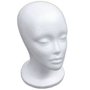 Женский пены манекен голова модель Шапка парик дисплей стойка стойка белый