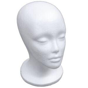 Female-Foam-Mannequin-Head-Model-Hat-Wig-Display-Stand-Rack-white