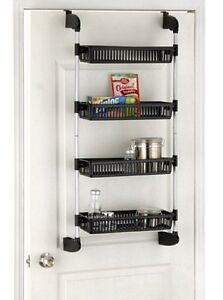4 basket shelf over door mount organizer unit hanging. Black Bedroom Furniture Sets. Home Design Ideas