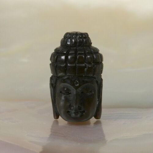 Grano De Oración Budista Negro de cuerno de búfalo cabeza imagen del Buda de 1.40 G