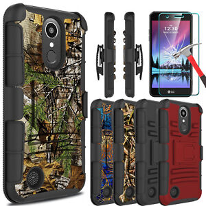 For-LG-K20-Plus-K20-V-Harmony-Case-With-Kickstand-Belt-Clip-Screen-Protector