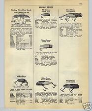 1952 PAPER AD Fishing Lure River Runt Fish Flesh Hot Shot San Luco King