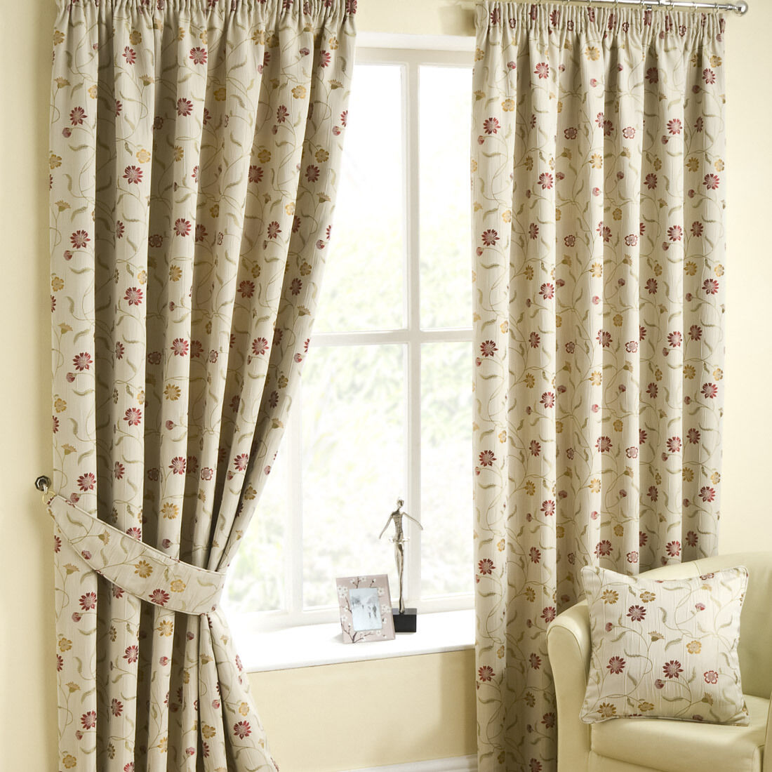 Isla Chintz Luxury Floral Design Fully Lined By Curtains By Lined Belfield baac55
