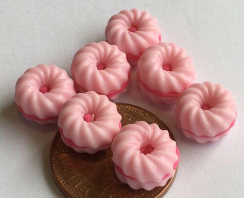 1:12 SCALA 7 Loose FRAGOLA Amaretti tumdee Casa delle Bambole Accessorio per dolci PL129