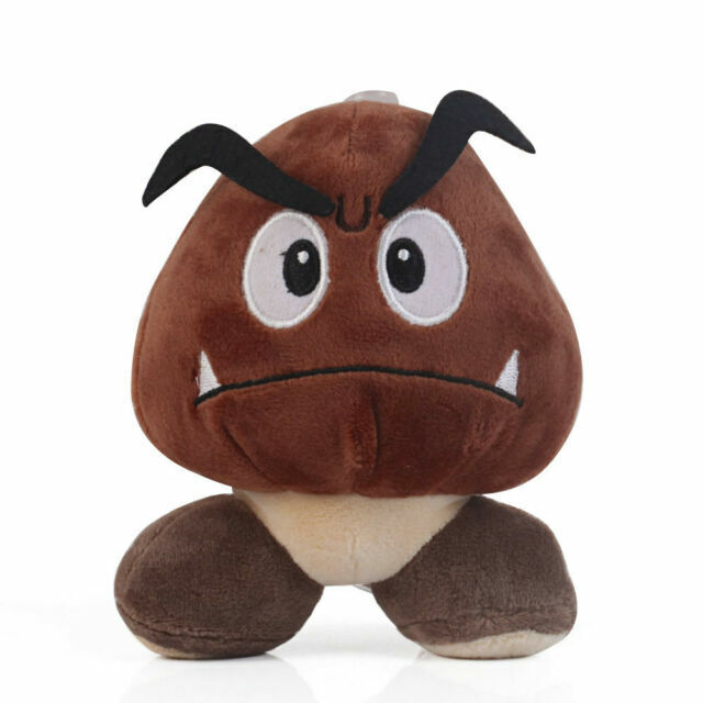 "New Super Mario Bros.Sad Goomba Stuffed Plush Doll Toy 6/"""