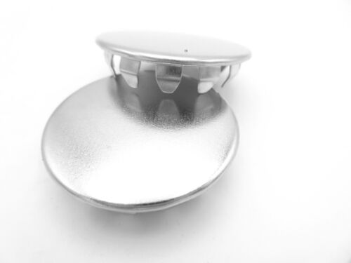 """1 1//4/"""" D Hole Nickel Plated Steel Tube Pipe Hole Plugs Push In Caps All Weather."""