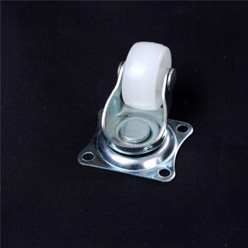 """4X10kg Universal Swivel Casters 1/"""" Wheels Castor White PP Nylon Roller Wheel IMA"""