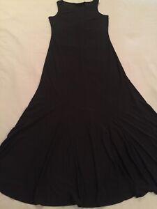 Attitudes-by-Renee-Black-Stretch-Jersey-Sleeveless-Maxi-Dress-Size-XS-Length-50