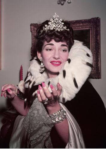 CANVAS Opera Singer Maria Callas in Regal Attire Art print POSTER
