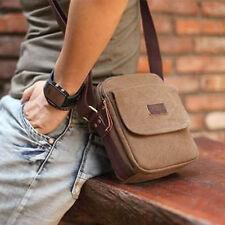 Herren braun Leinwand Umhängetasche kleine Tasche Messenger Taschen Geschenkro