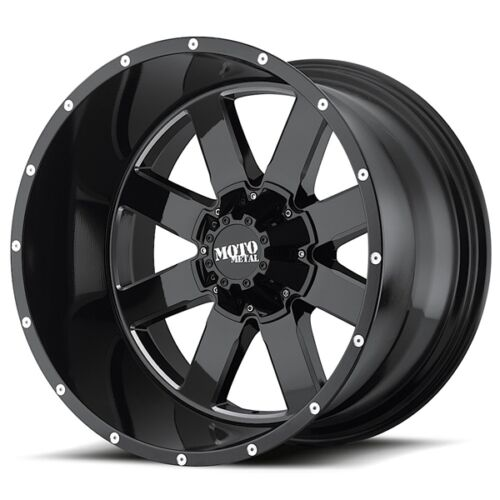 1-20 Inch Black Wheels Rims Wheel Rim Jeep Wrangler JK Moto Metal MO962 20x12/""