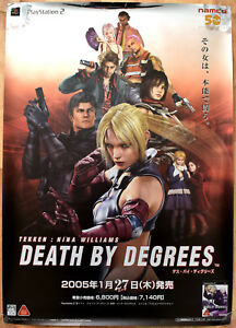 Death-By-Degrees-RARE-SONY-PS2-51-5-cm-x-73-Japanese-Promo-Poster