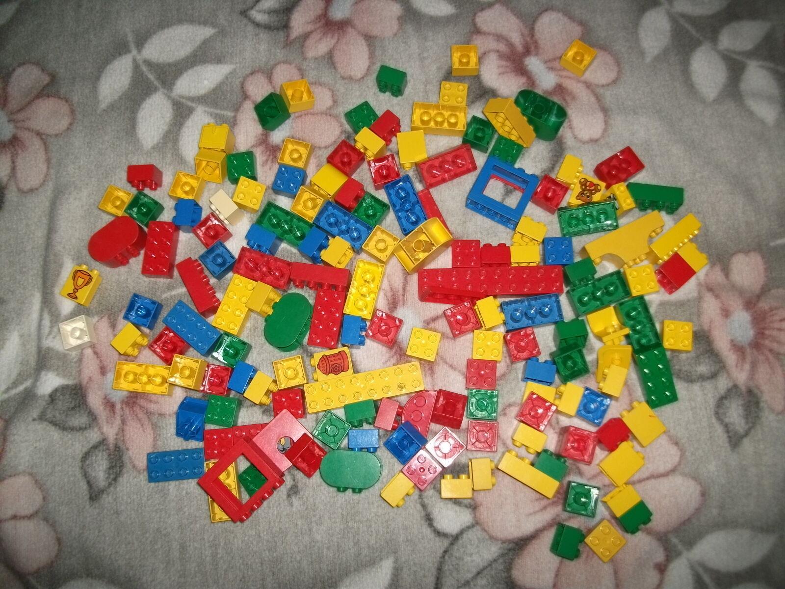Duplo viele Steine bunt gemischt gemischt gemischt Figuren Auto Hubschrauber Wohnwagen 22cc14