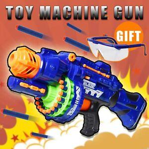 Details about Nerf Rapid Fire Machine Gun Rifle Blaster Toy Gun Soft  Bullets Darts Kids Play