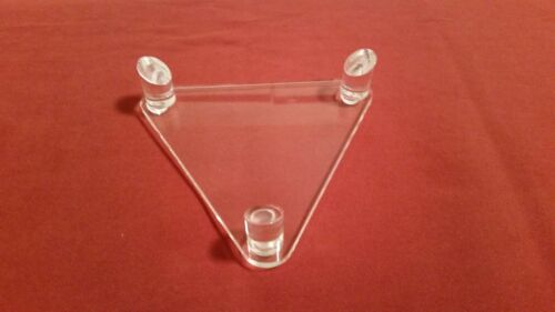 ~1 Acrylic 3 Peg Display Stand For Shot Put Canister Grape Shot Cannon Ball