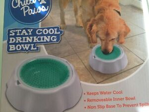 Pets Stay Cool DogS Cat drinking water cooling bowl upto 8 hours dish removable - <span itemprop='availableAtOrFrom'>Essex, United Kingdom</span> - Pets Stay Cool DogS Cat drinking water cooling bowl upto 8 hours dish removable - Essex, United Kingdom