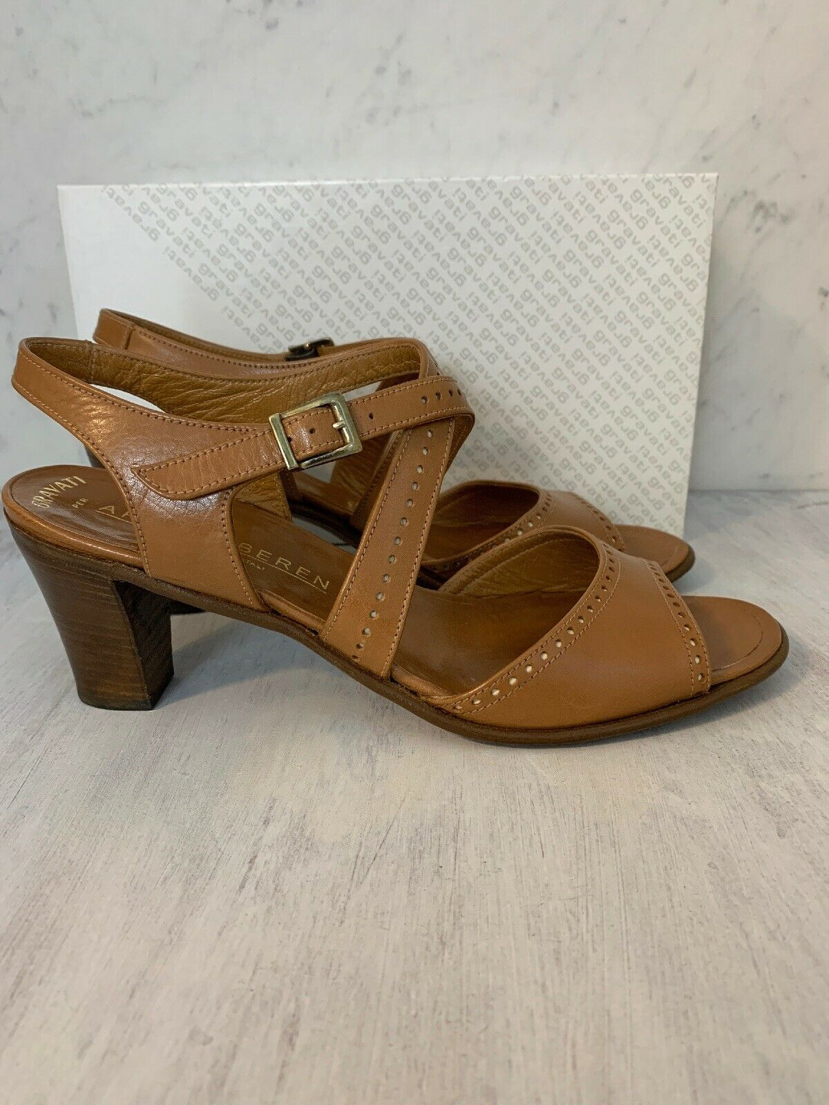 Gravati Fir Arthur Beren damen Sandals 8.5 braun Leather