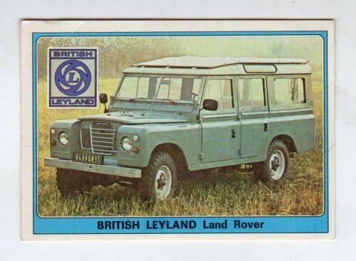 figurina SUPER AUTO PANINI NEW NUMERO 197 BRITISH LEYLAND LAND ROVER