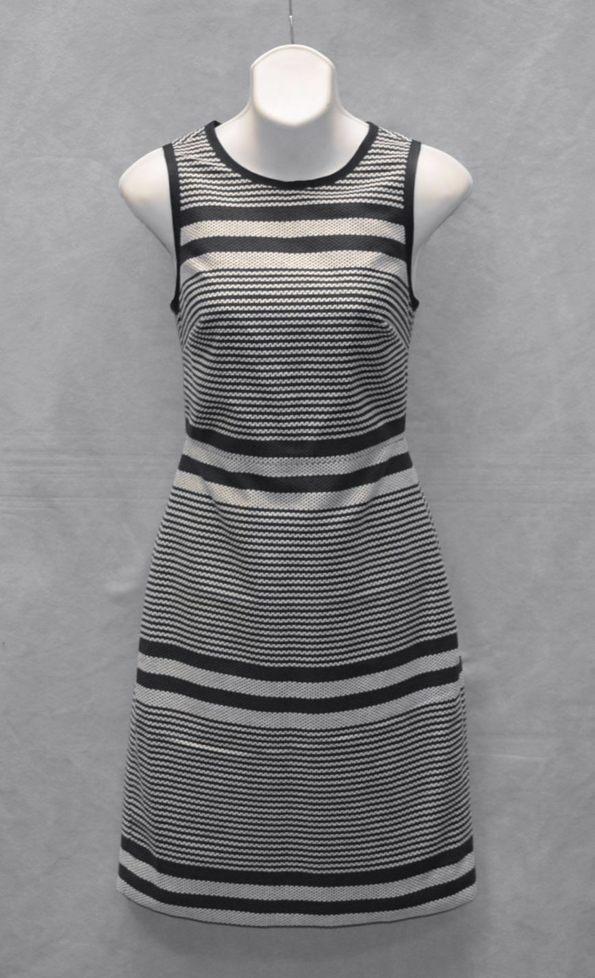 B0 NWT J CREW Indigo bluee & White Tweed Striped Sneath Dress G2448 Size 2