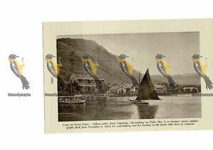 Muizenberg-False-Bay-Near-Cape-Town-South-Africa-Book-Illustration-c1920