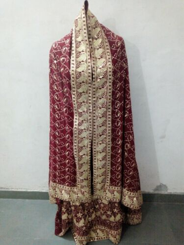 Vintage Indian Lehenga Set Pure Chiffon Zari  Heav