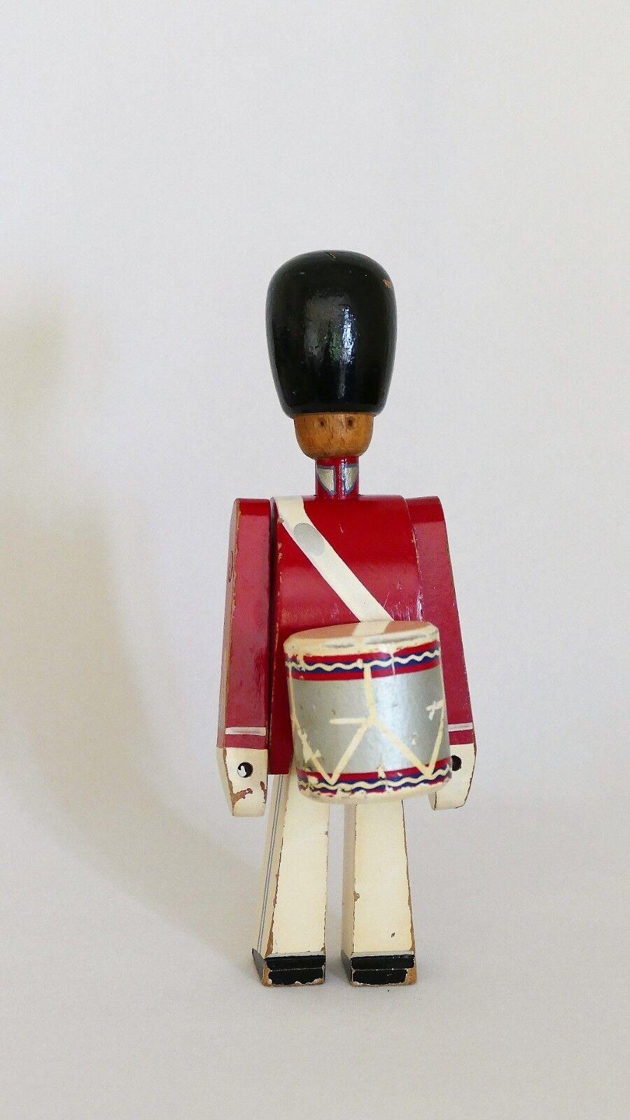 Vintage KAY BOJESEN Denmark - Wooden Soldier   Drummer - 20 cm (B)