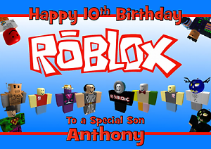 Image Is Loading Roblox Personalised A5 Birthday Card Son Brother Nephew