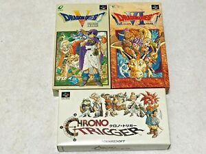 Dragon-Quest-Warrior-5-amp-6-etc-Lot3-Nintendo-SFC-Super-Famicom-Japan-SNES-NTSC-J