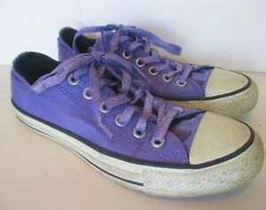 efa2988e404e Converse All Star Women s Low Top Sz 7 Purple Sparkle Glitter ...
