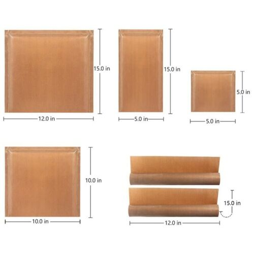 6 Stücke//Set 4 Größen Teflon Kissen Wärme Press Kissen Wärme Presse Transfe B3I1